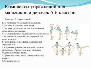 Комплекс общеразвивающих упражнений по физкультуре