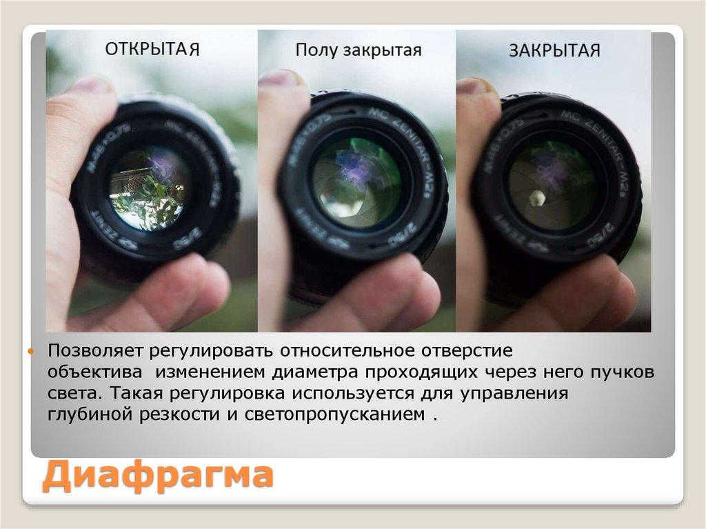 Диафрагма в фотоаппарате - что это такое, как правильно настроить диафрагму для отличных снимков - top100photo