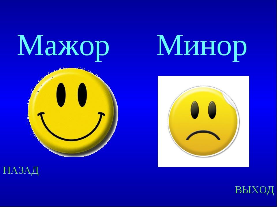 Разница между мажором и минором