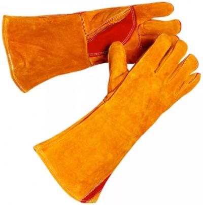 Краги сварочные и костюм: очки, перчатки и роба сварщика, зимняя одежда