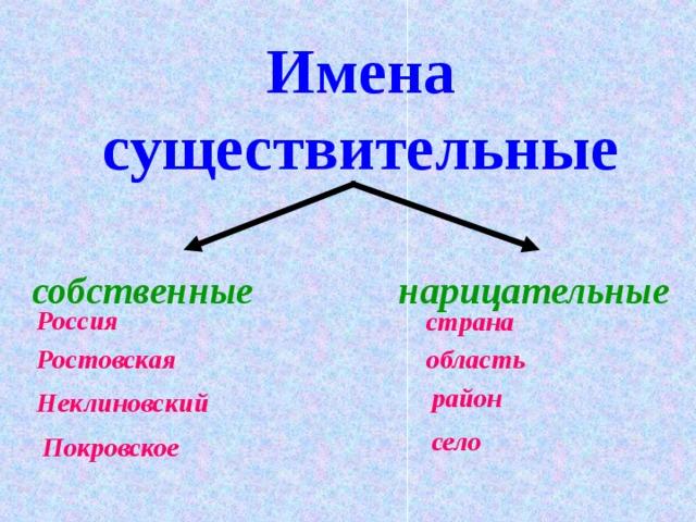 Имена существительные собственные и нарицательные. примеры