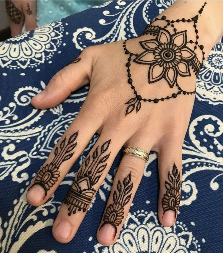 Мехенди на руку: легкие и красивые узоры хной для девушек