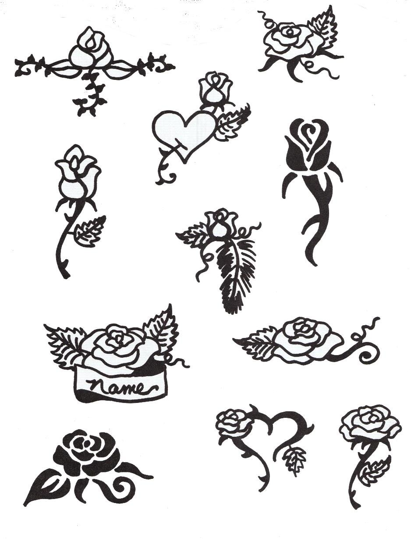 Рисунки тату хной – временные татуировки из индии