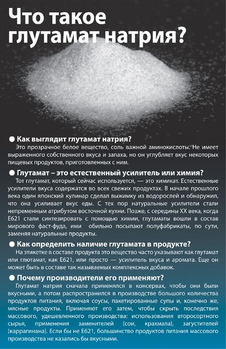 Вреден ли для здоровья глутамат натрия?