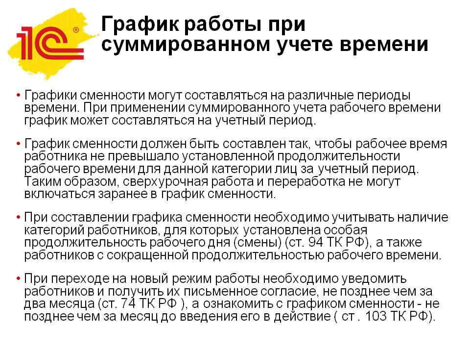 Суммарный учет рабочего времени - примеры расчета - nalog-nalog.ru