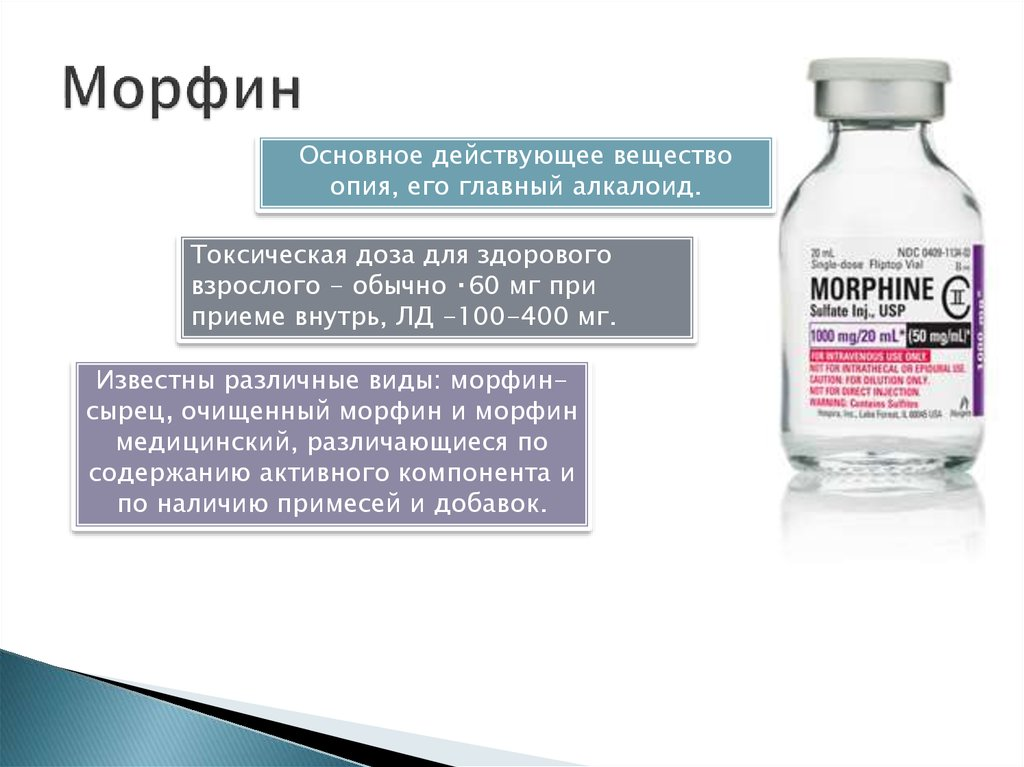 Морфин (лекарственное средство) — википедия с видео // wiki 2