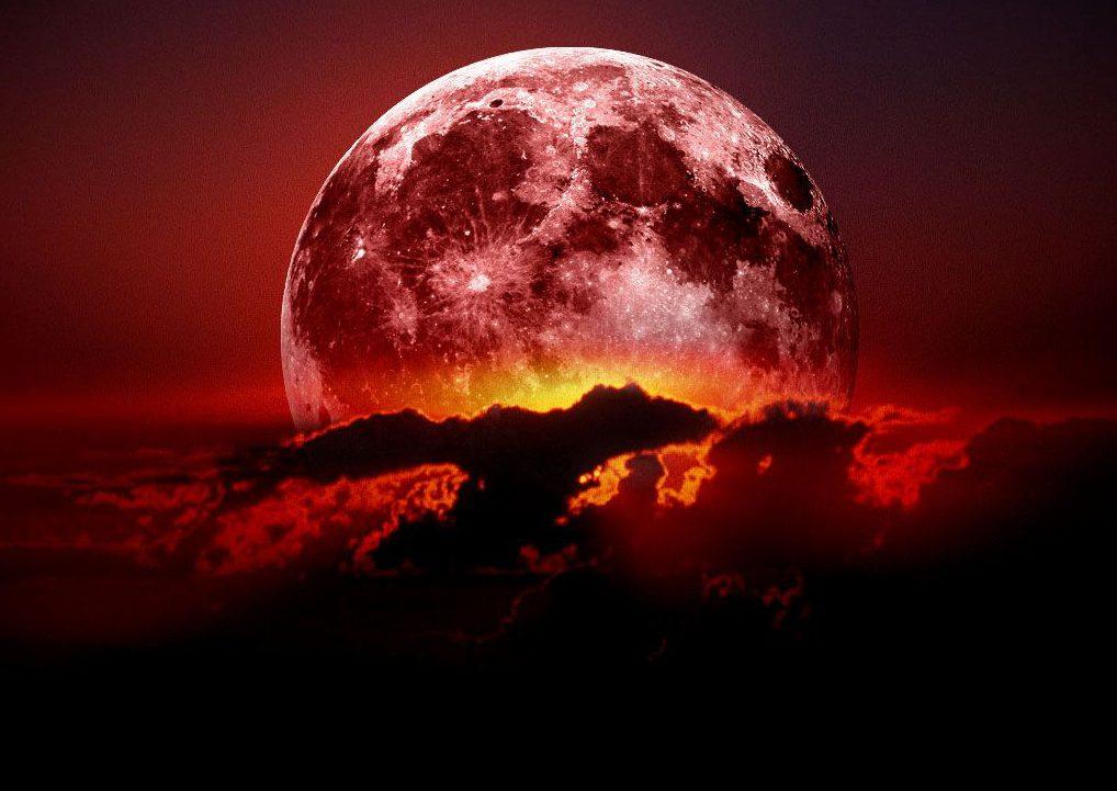 Почему луна бывает красной?