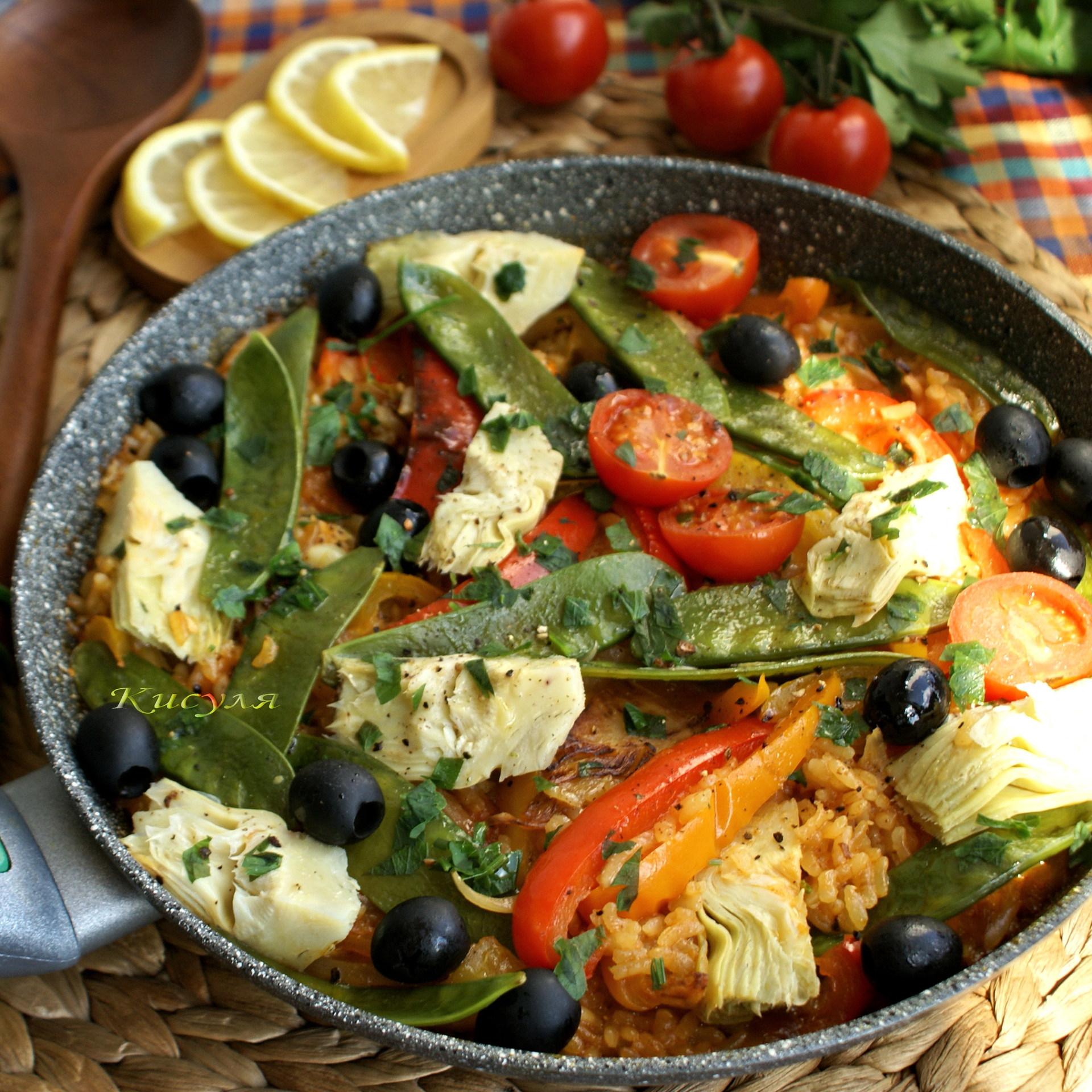 Паэлья с морепродуктами – кулинарный рецепт