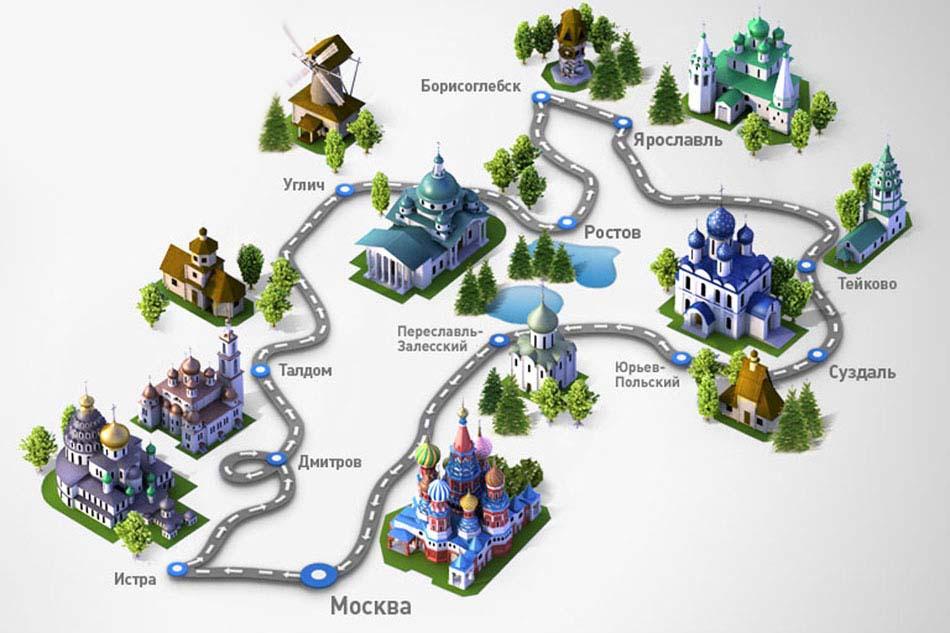 Золотое кольцо россии: города и список достопримечательностей