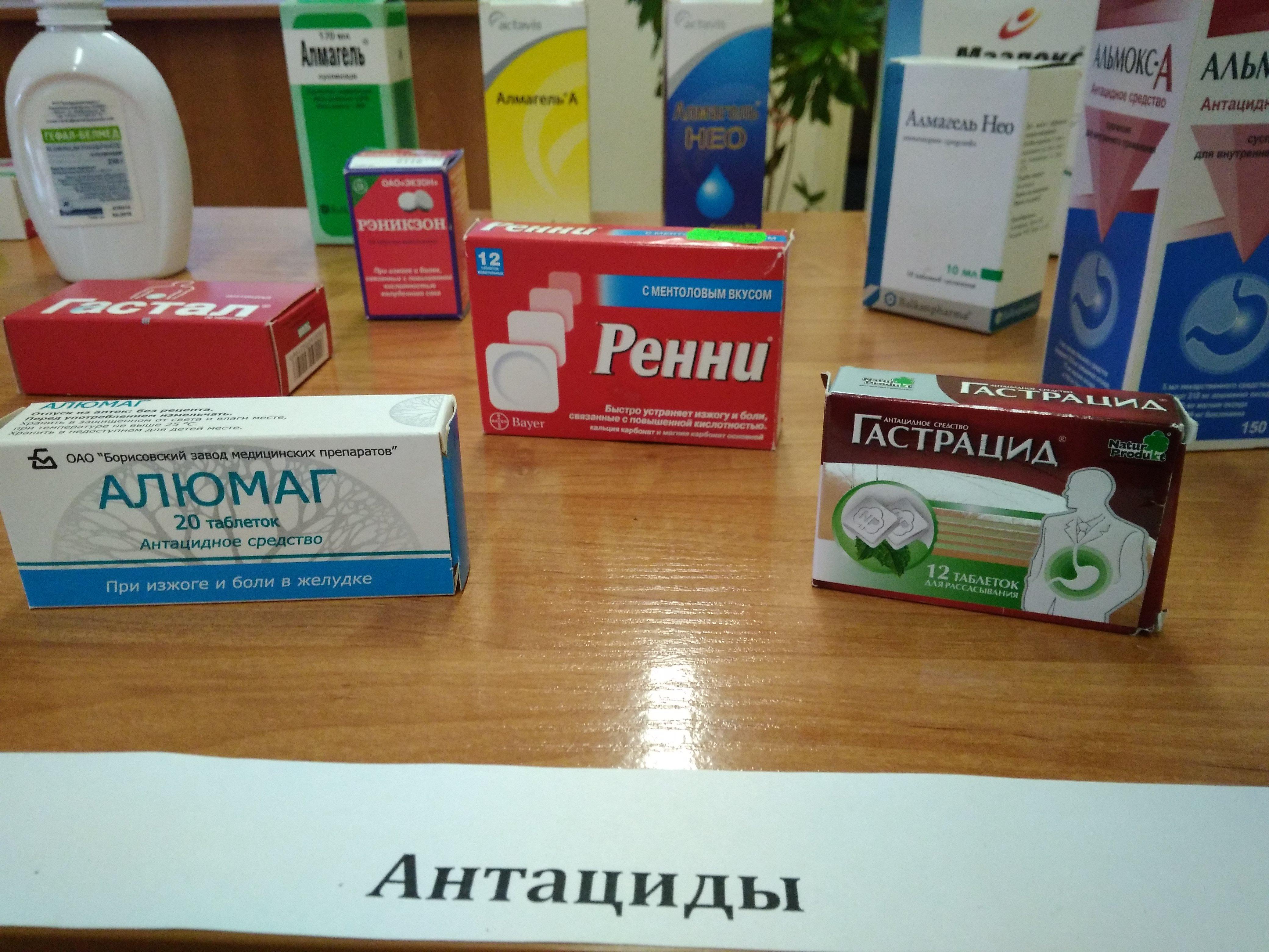 Антациды: перечень препаратов, принцип действия | про-гастро