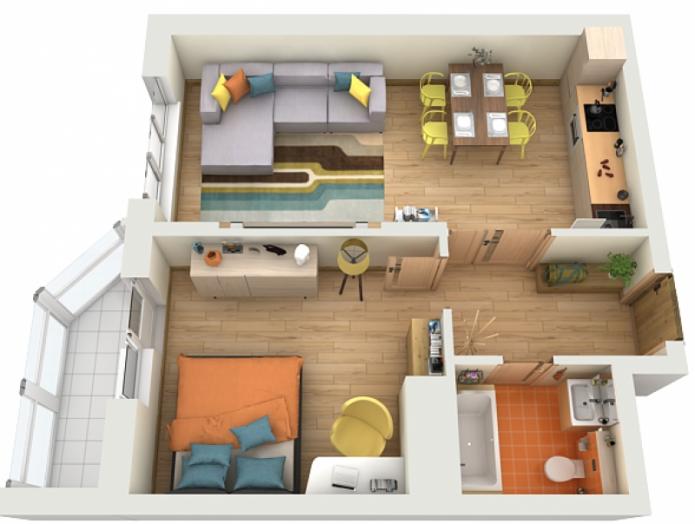Квартира-евродвушка: планировка, специфические особенности дизайна и обустройства интерьера