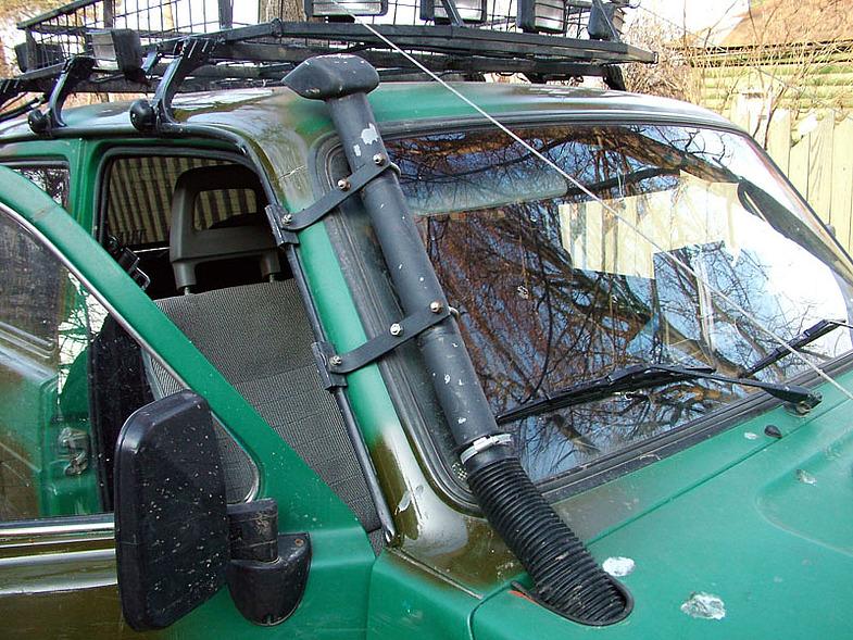 Что такое шноркель и как его установить на машину