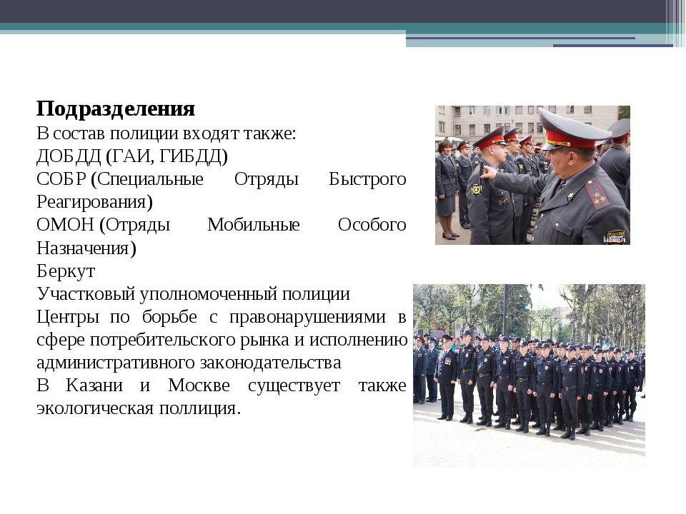 Разница между милицией и полицией