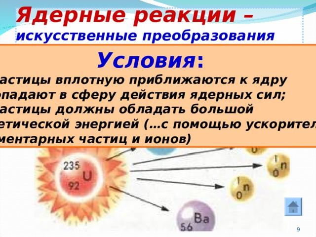 """Конспект """"ядерные реакции. ядерный реактор"""" - учительpro"""