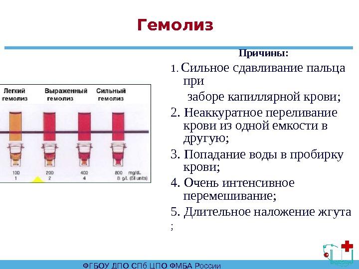 Гемолиз крови при сдаче анализов - вашиорганы