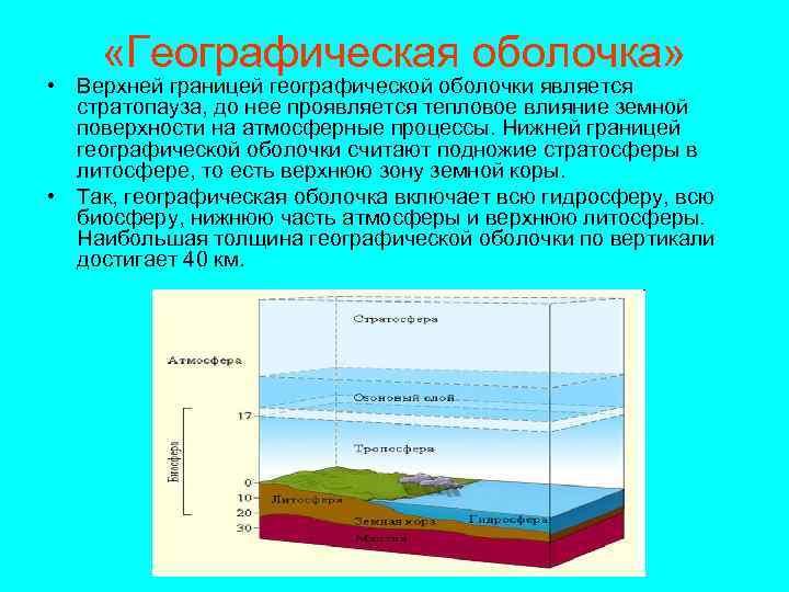 Урок 8: оболочка географическая - 100urokov.ru