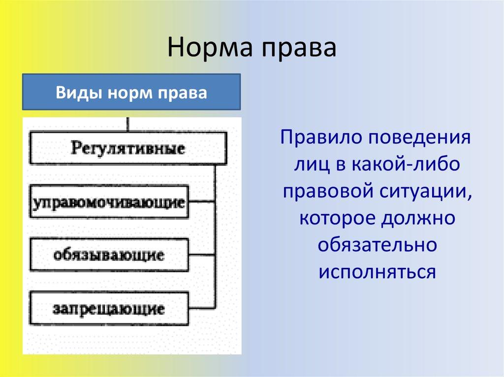 Раздел i. теория государства и права: лекция 2. норма права. правовые отношения