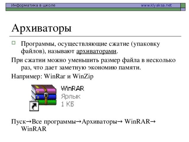 Для чего нужны архиваторы файлов