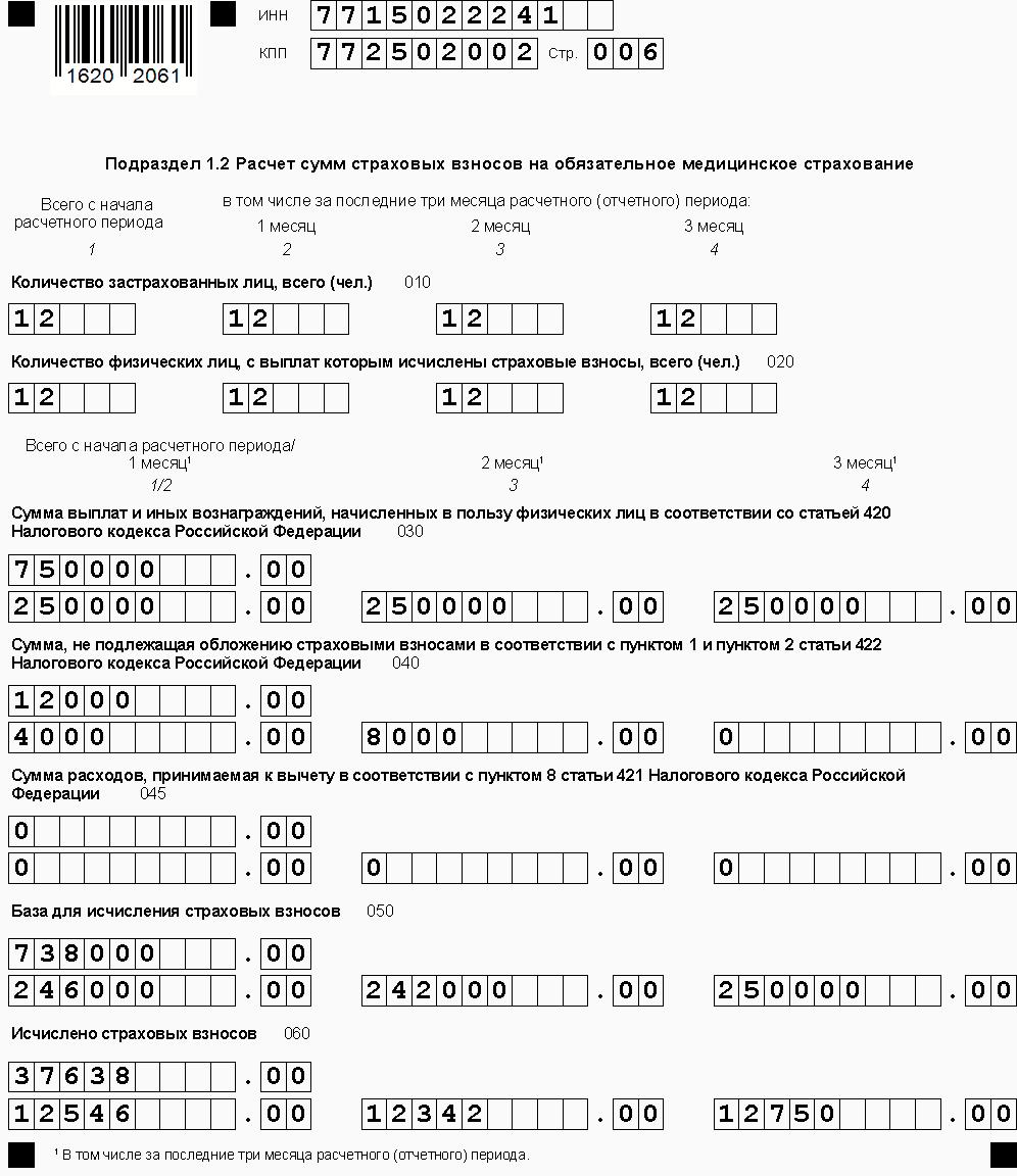 Знакомимся с формой рсв, что такое единый расчёт