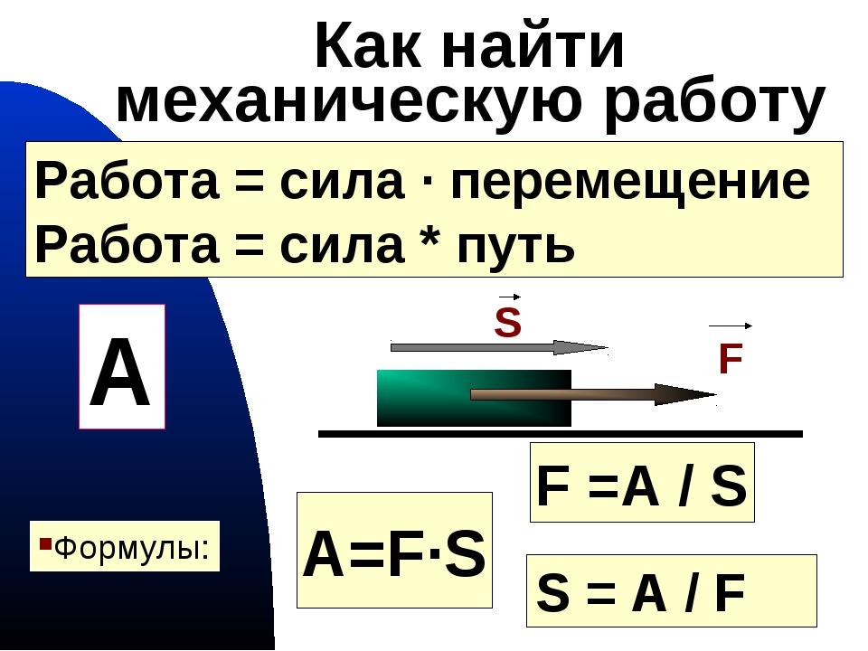 Работа (физика) википедия
