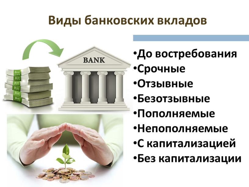Что такое банковский депозит?