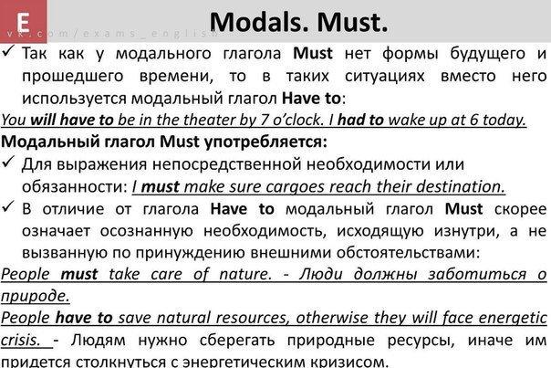 Что такое модальные глаголы в английском языке простыми словами