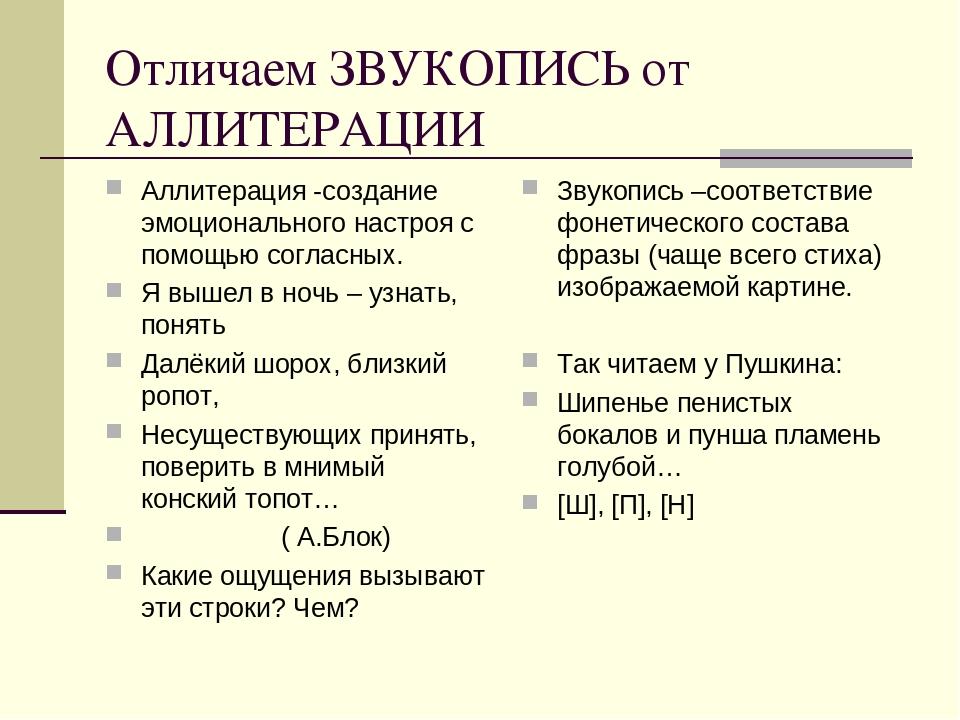 3.3. звукопись в художественной речи