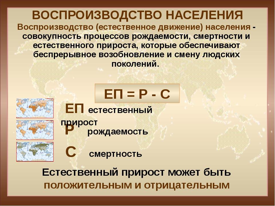 Список стран по естественному приросту населения