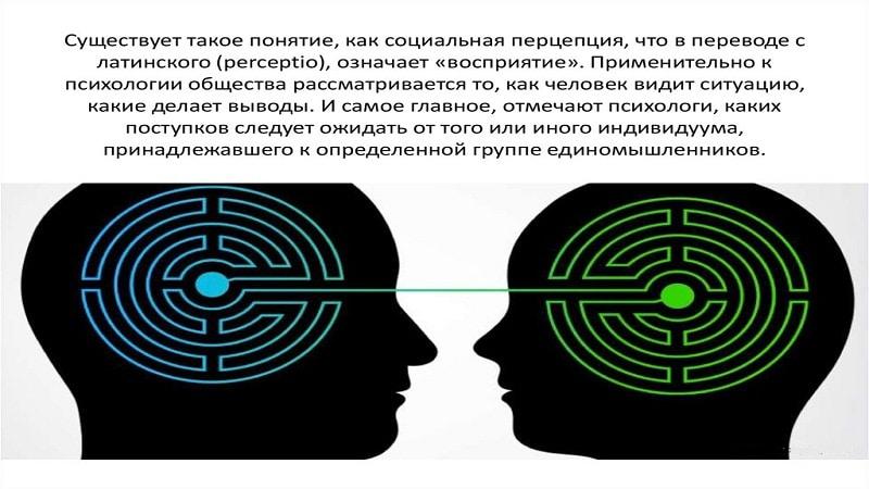 Перцепция - механизмы и закономерности социальной перцепции