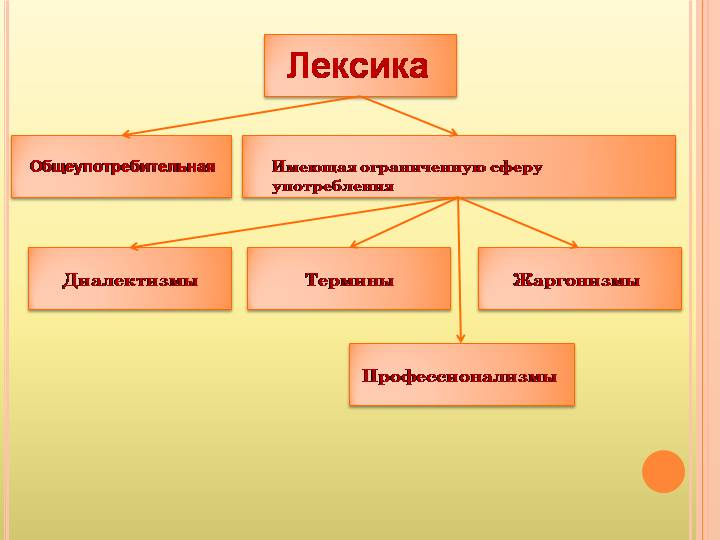 Сфера употребления лексики русского языка, ее активный и пассивный запас