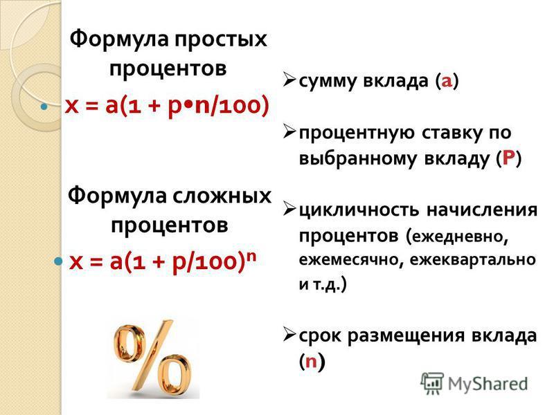 Простые и сложные проценты в банках. формула сложного процента