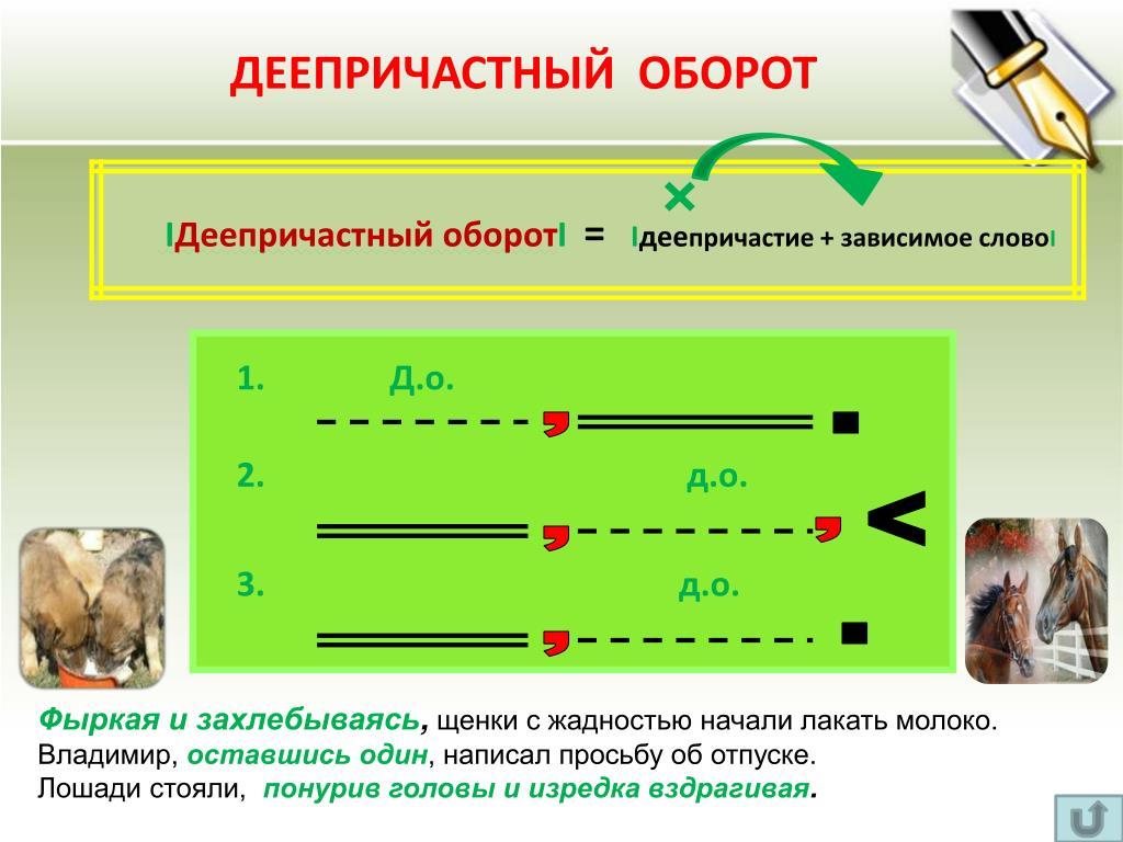 Деепричастный оборот - это... примеры предложений