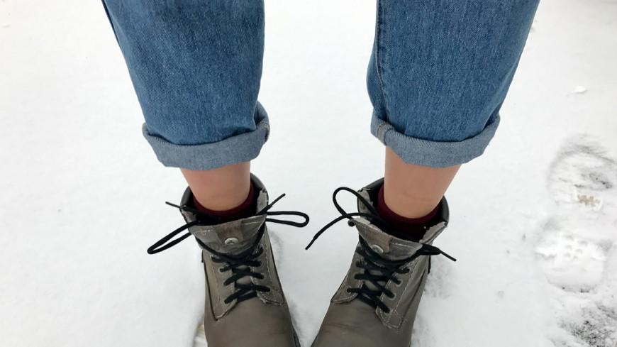 Как сделать зауженные подвороты на джинсах