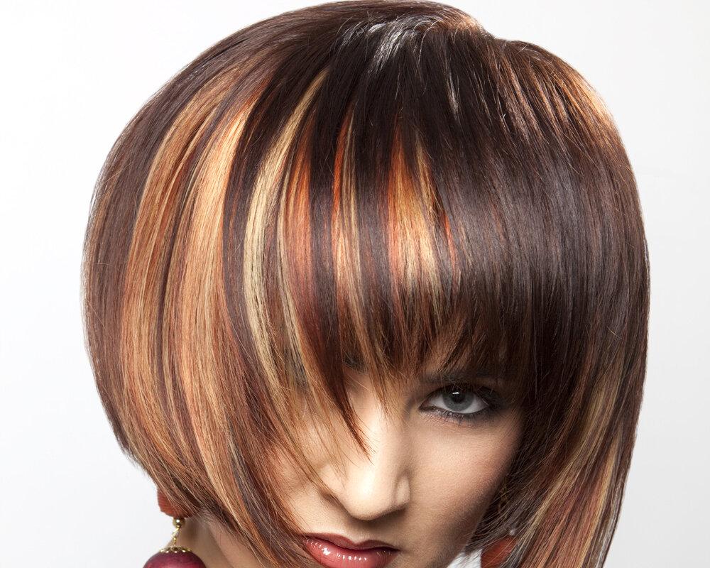 Колорирование на светлые волосы (52 фото): колорирование коротких и длинных волос темными прядями. выбор оттенков. покраска волос средней длины