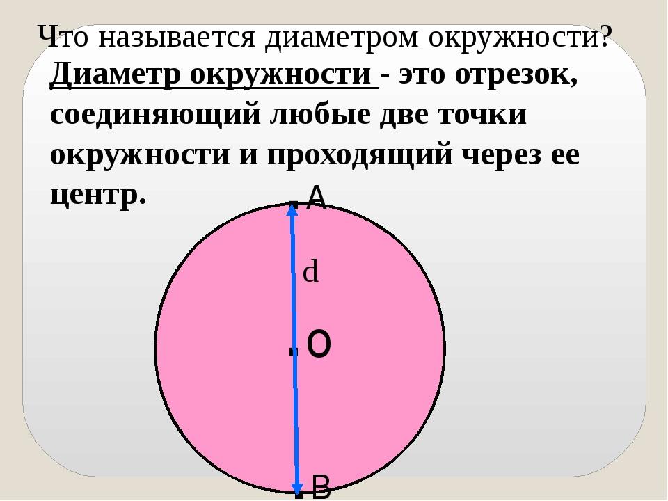 Диаметр что это? значение слова диаметр