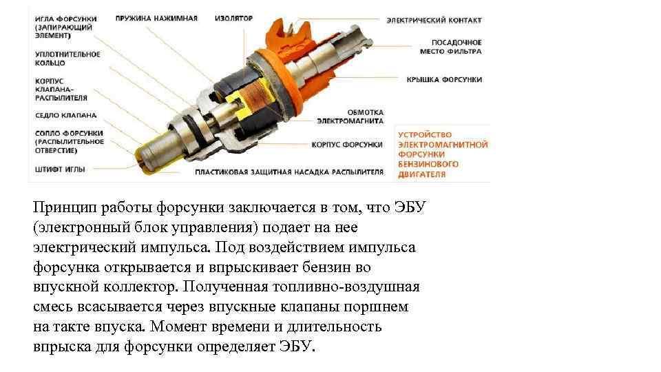 Топливная форсунка: что это такое, устройство, принцип работы, где находится, виды