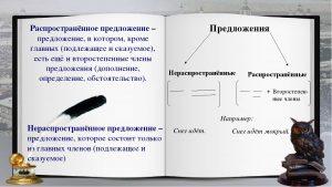 Нераспространенное предложение – примеры, характеристика, правило (5 класс, русский язык)