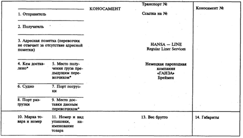 Коносамент - цели, виды и типы основного документа в логистике