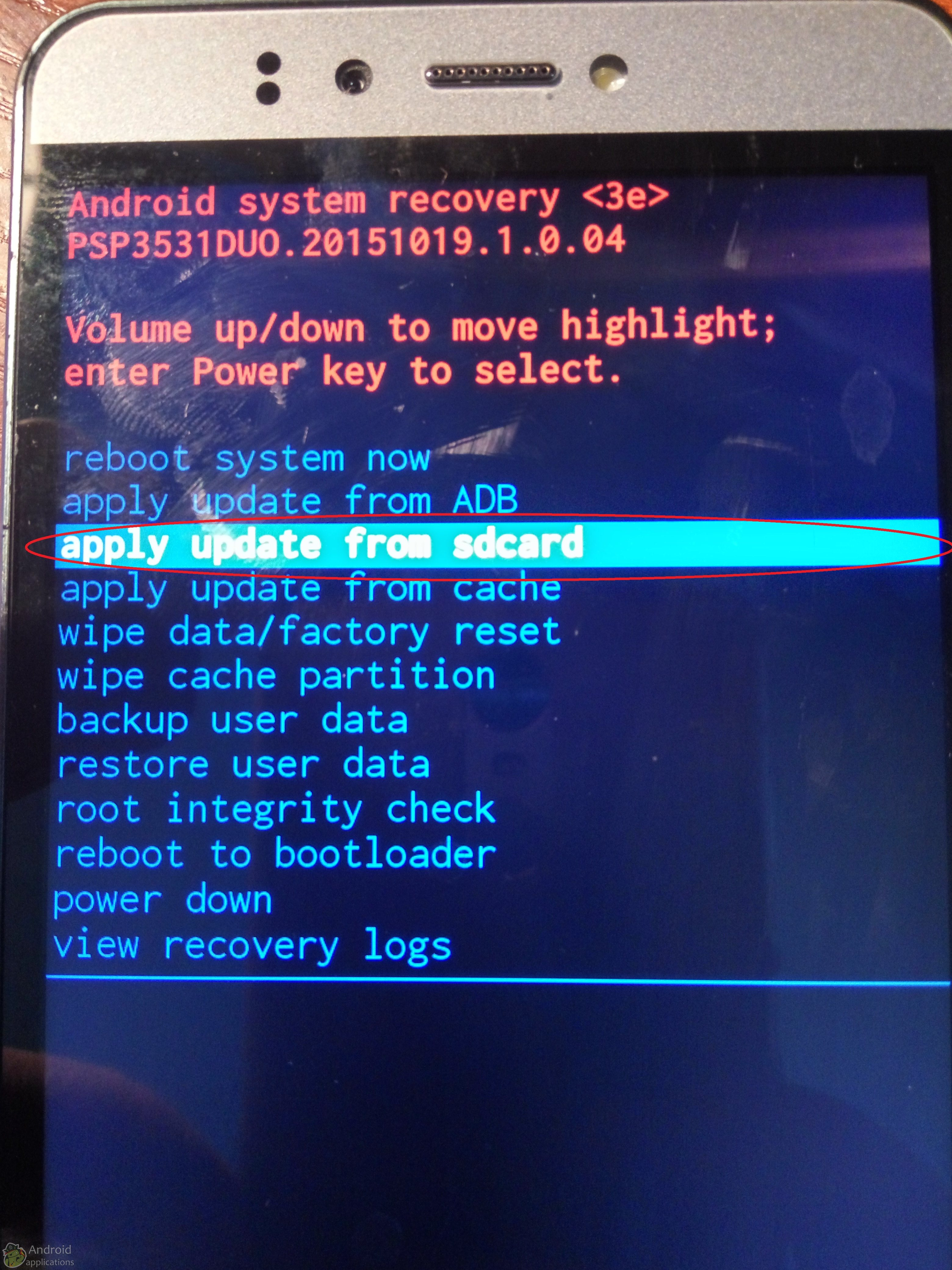 Android system recovery 3e: инструкция на русском языке