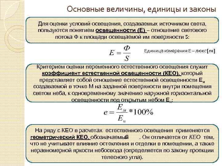 Единица измерения света. как измерить. подробно.