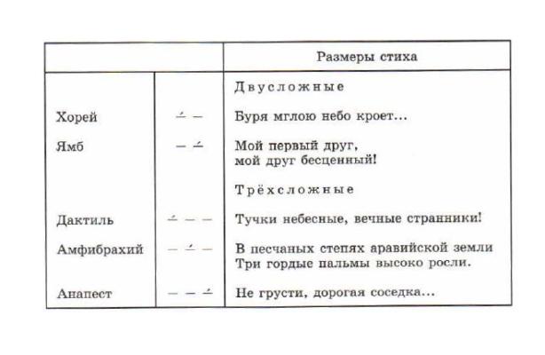 Как определить размер стиха? | литрекон
