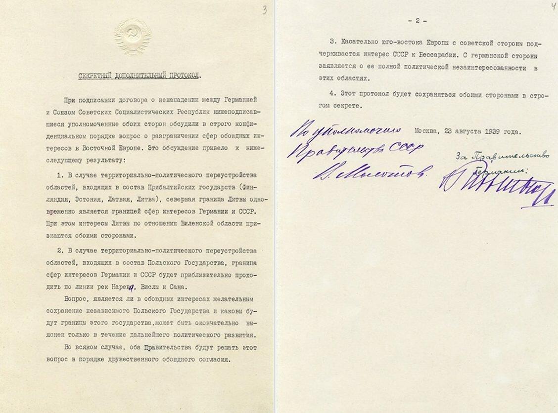 Пакт молотова-риббентропа - кратко, суть, причины и последствия