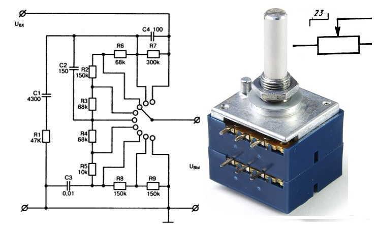 Управление электрической цепью при помощи реостата