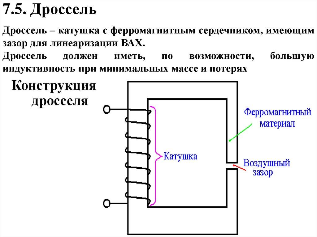 Электрический дроссель википедия