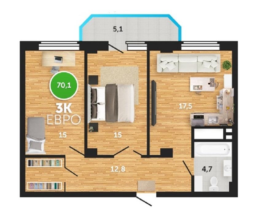 Планировки евродвушек. дизайн интерьера квартиры-евродвушки (фото)