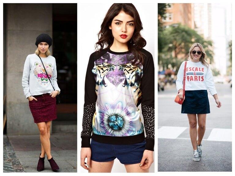 Практично и стильно! модные свитшоты в нетривиальных аутфитах