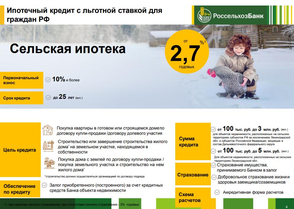 Что нужно для получения льготной сельской ипотеки — российская газета