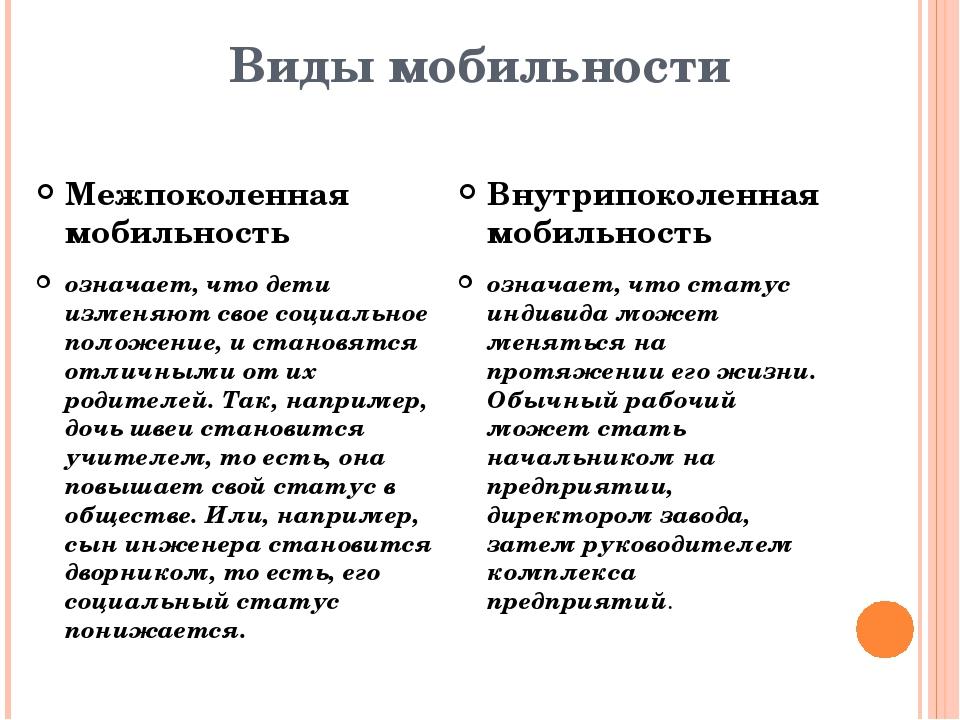 Что такое социальная мобильность и по каким факторам возникают разные типы мобильности | tvercult.ru