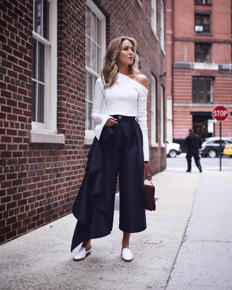 Идеи! брюк кюлот с чем носить 80 фото модные образы