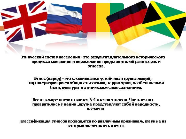 Что такое этнос – понятие, виды, примеры народов и этнические отношения